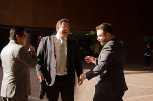 Marcelo Ortega (Consulta Mitofsky), Lauro Mercado (Mercaei) y Rodrigo Galván (De las Heras Demotecnia)