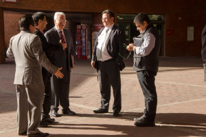 Marcelo Ortega (Consulta Mitofsky), René Bautista (NORC), Edmundo Berumen (Berumen y Asociados) y Lauro Mercado (Mercaei)