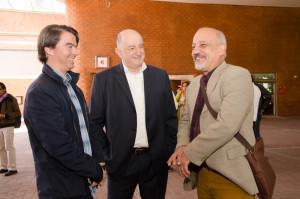 Guido Lara (Lexia), Roy Campos (Consulta Mitofsky) y Francisco Báez (La Crónica)