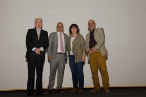Alfonso Zárate (GCI), Jorge Buendía (Buendía y Laredo), Gabriela Warkentin (W Radio) y Francisco Báez (La Crónica)
