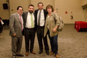 Marcelo Ortega (Consulta Mitofsky), Rodrigo Galván (De las Heras Demotecnia), Juan Carlos Henríquez (UIA) y Gabriela Warkentin (W Radio)